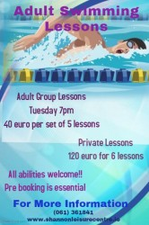 Adult Swimming Lessons Shannon Leisure Centre