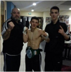 Winning 2nd -55 Junior WKA Irish title