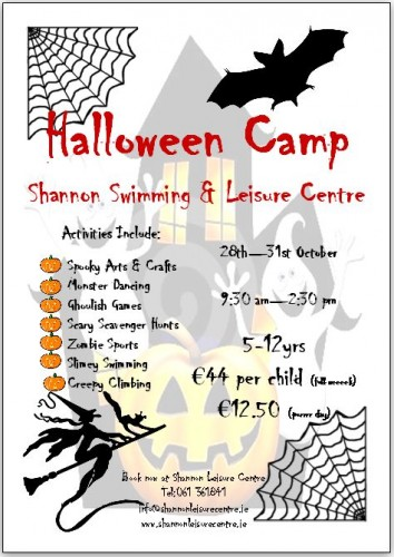 Halloween Camp Shannon Leisure Centre
