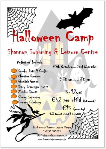 Halloween Camp 2018 Shannon Leisure Centre