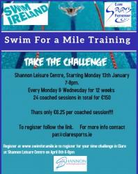 Swim for a mile Shannon Leisure Centre