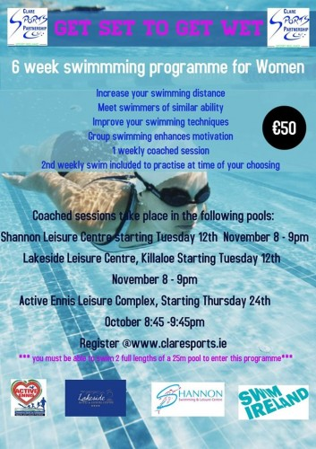 Swimming for Women Shannon Leisure Centre
