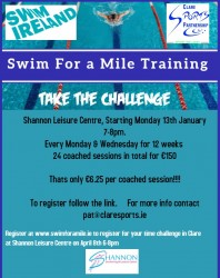 Swim for a mile Shannon Leisure Centre