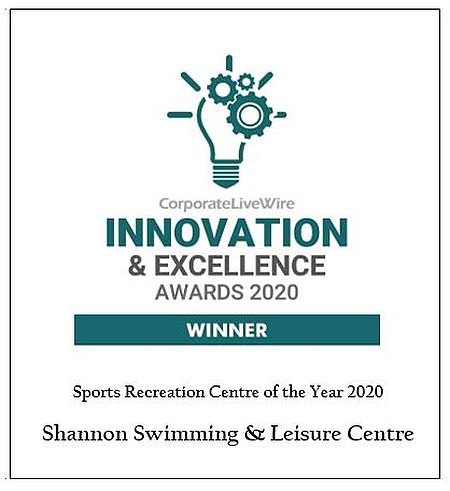 Corporate Livewire Innovation Excellence Award Winners Shannon Swimming & Leisure Centre