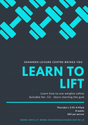 Learn to Lift Shannon Leisure Centre